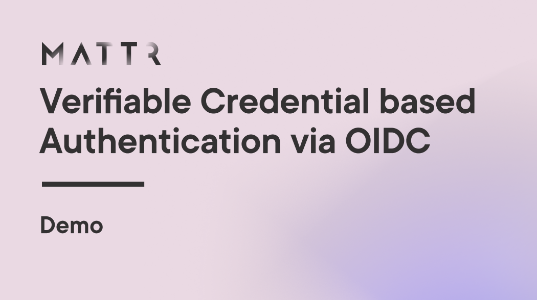 Demo for Verifiable Credential Authentication with OpenID Connect